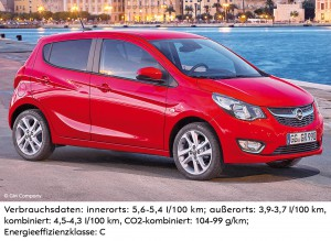 Opel Karl+Verbrauchsdaten